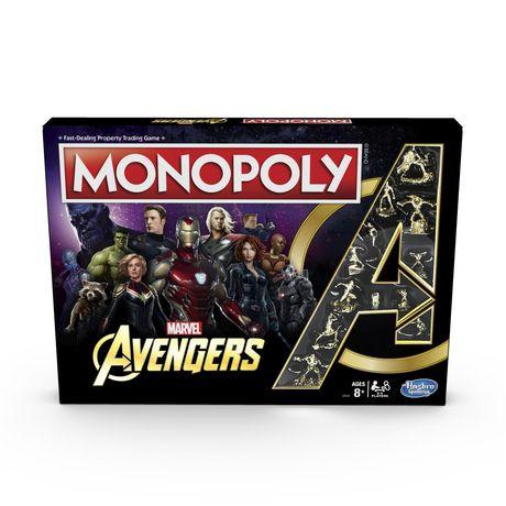 Monopoly jeu de société avec un thème de Avengers Marvel
