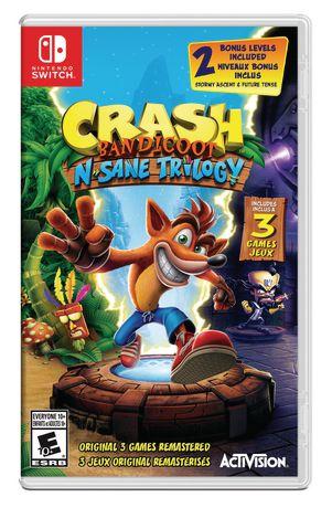 Crash Bandicoot N-Sane Trilogy - Meilleur coup pour votre jeu de commutateur Buck
