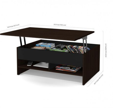 Bestar Small Space 2 Piece Lift Top Storage Coffee Table