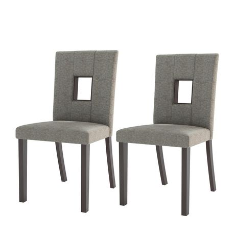 CorLiving Atwood Grey Sand Fabric Dining Chairs, Set of 2 - image 2 of 6
