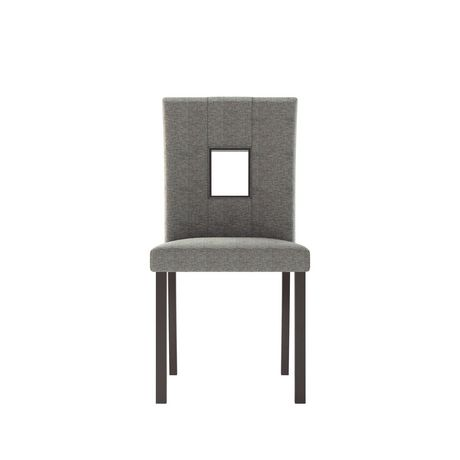 CorLiving Atwood Grey Sand Fabric Dining Chairs, Set of 2 - image 4 of 6