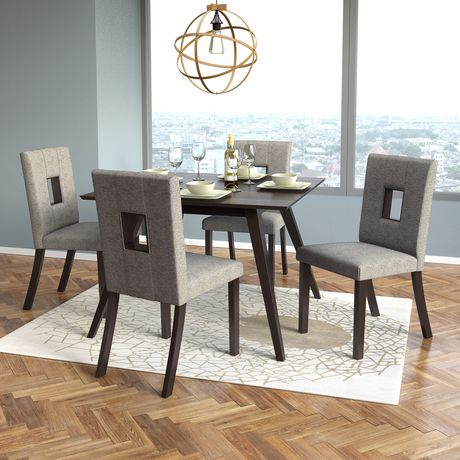CorLiving Atwood Grey Sand Fabric Dining Chairs, Set of 2 - image 5 of 6