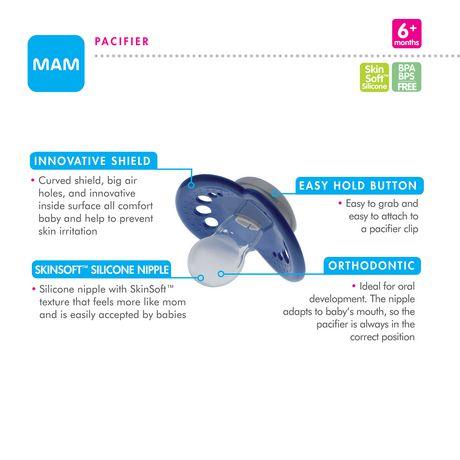 Sucette en silicone Vogue de MAM en paq. de 3 - image 3 de 3