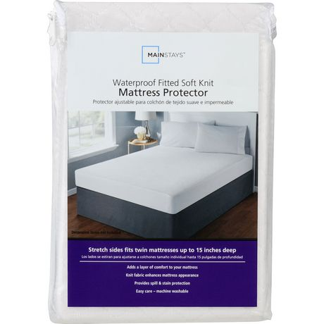 Mainstays Waterproof Fitted Soft Knit Mattress Protector