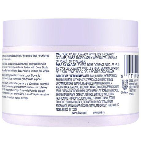 Dove  Crushed Lavender & Coconut Milk Exfoliating Body Polish 298g - image 3 of 6