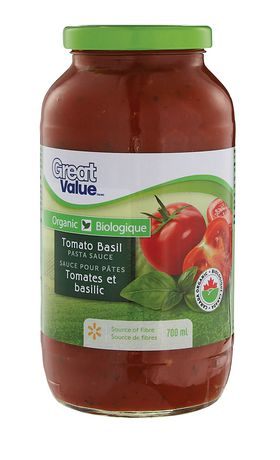 Great Value Organic Tomato Basil Pasta Sauce - image 1 of 2