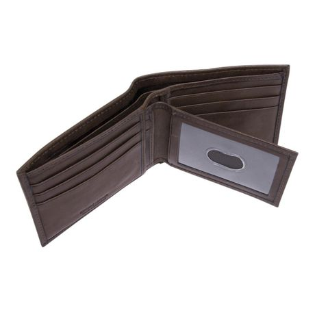R70 Men's Genuine Slimfold Brown Wallet with Pull Id - image 6 of 6