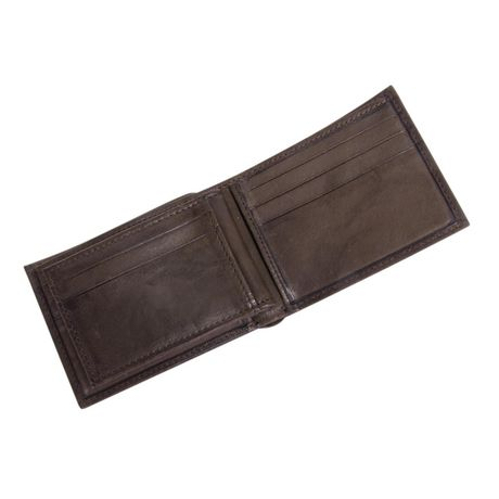 R70 Men's Genuine Slimfold Brown Wallet with Pull Id - image 3 of 6