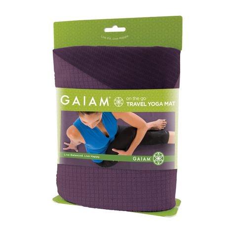 Tapis De Yoga Pour Le Voyage Gaiam En Violet Walmart Canada