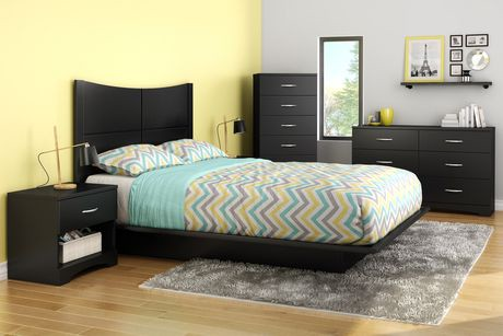 South shore soho collection queen platform bed walmart canada for South shore bedroom set walmart