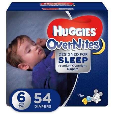 Couches Huggies Overnites Emballage Giga Walmart Canada