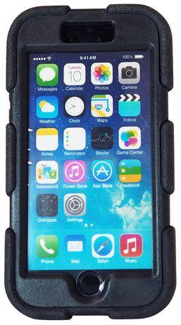 Étui Exian blindé pour iPhone 6 Plus avec clip de ceinture - noir