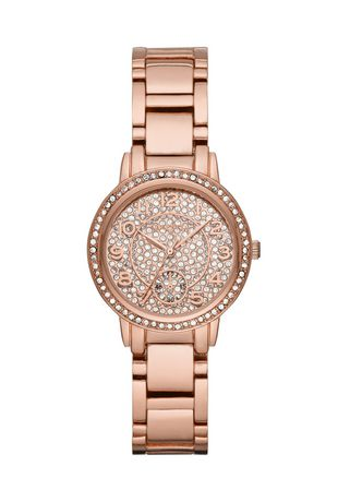 Ladies' George Fashion Watch in Rose Gold Plating with Crystal Dial