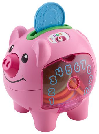 Fisher-Price Laugh & Learn Smart Stages Piggy Bank - English Edition | Walmart.ca