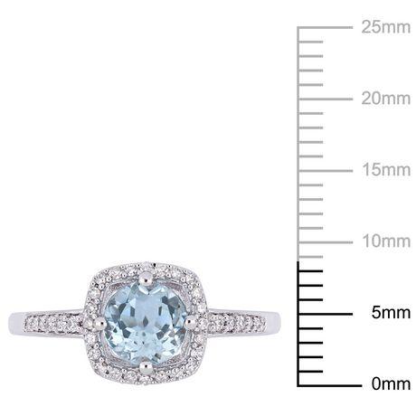 bague diamant bleu ciel