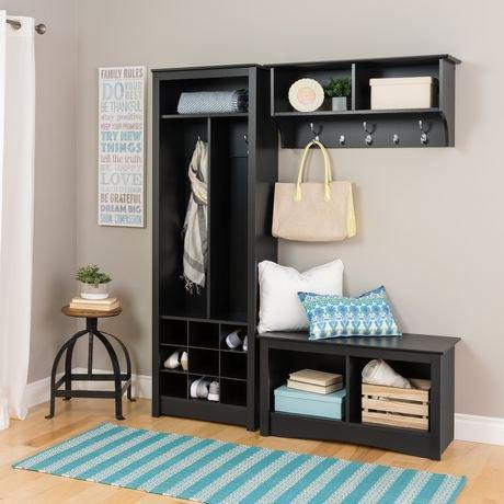 meuble de rangement prepac pour vestibule avec compartiments pour chaussures. Black Bedroom Furniture Sets. Home Design Ideas