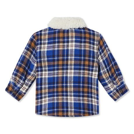 George Baby Boys' Sherpa Lined Plaid Lumber Shirt - image 2 of 2
