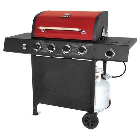 Backyard Grill Red Lid 4 Burner Gas Grill BBQ ...