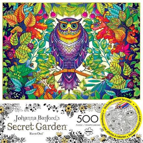 Buffalo Games Johanna Basfords Secret Garden Forest Owl