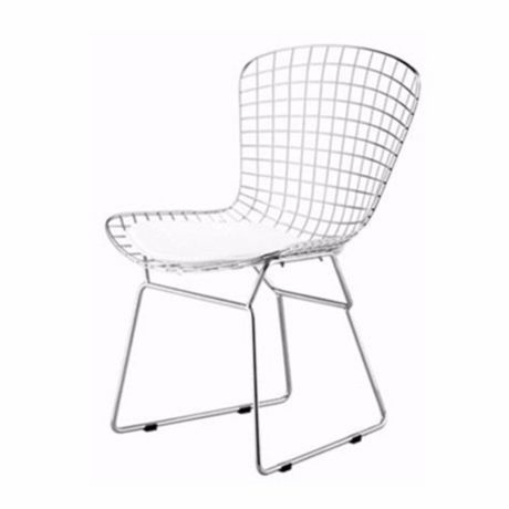 Nicer Furniture White Bertoia Chair