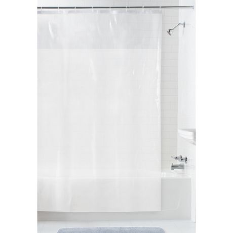 mainstays clear view peva shower liner