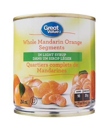 Great Value Whole Mandarin Orange Segments - image 1 of 2