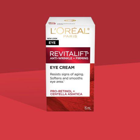 L'Oréal Paris Revitalift Anti-Wrinkle + Firming Anti-Aging  Eye Cream, with Pro-Retinol & Centella Asiatica, 15 mL - image 9 of 9