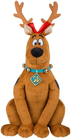 Plush character for indoor holiday decorating