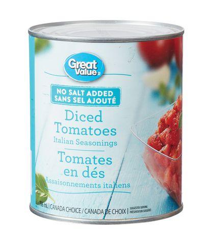 Great Value No Salt Added Italian Seasonings Diced Tomatoes - image 1 of 2