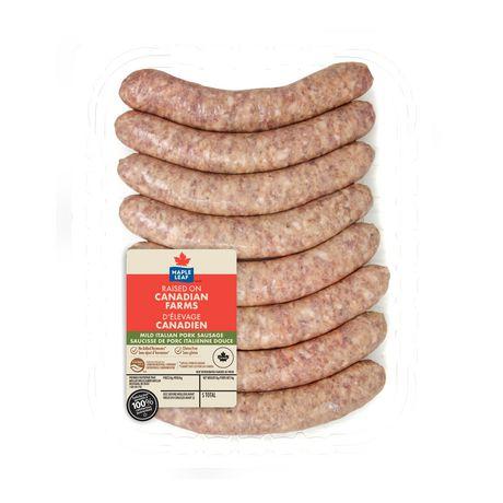 Maple Leaf Mild Italian Pork Sausages - image 2 of 2