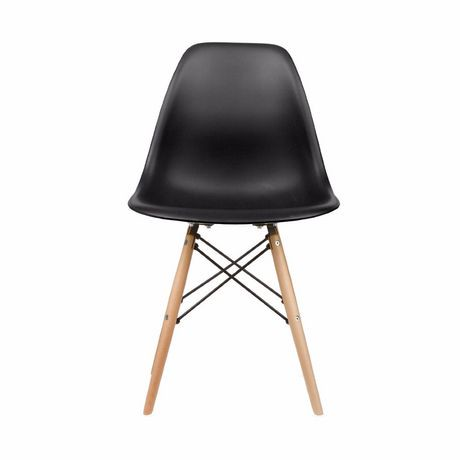 Nicer Furniture Black Modern Eiffel Dining Room Chairs