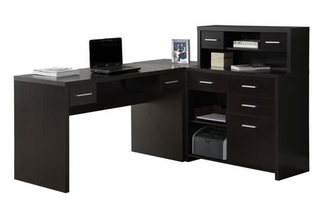 bureau d ordinateur monarch specialties en cappuccino. Black Bedroom Furniture Sets. Home Design Ideas