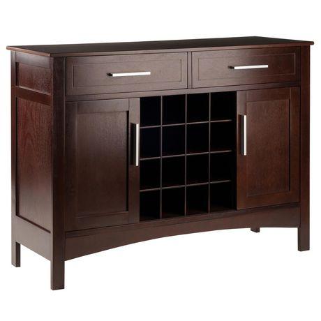 Prime Winsome Gordon Buffet Cabinet Sideboard Cappuccino Finish Home Interior And Landscaping Fragforummapetitesourisinfo