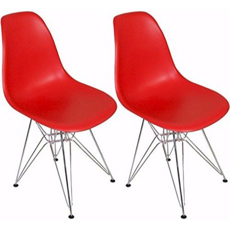 Nicer Furniture Red Eames Dsw Metal Legs Chair - image 1 of 1