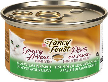 Purina(MD) Fancy Feast(MD) Plats en Sauce(MC) Festin au Saumon dans une Sauce à Saveur de Saumon Grillé Nourriture pour Chats - image 1 de 4