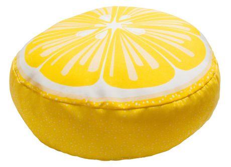 hometrends Lemon Outdoor/Indoor Round Toss Cushion - image 2 of 2