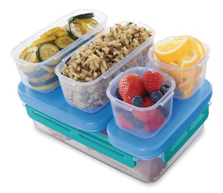rubbermaid lunchblox leak proof entr e lunch container kit large blue walmart canada. Black Bedroom Furniture Sets. Home Design Ideas