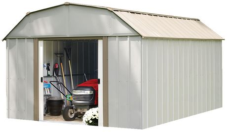 Arrow Lexington Barn Style Taupe/Eggshell Steel Storage Shed - image 1 of 3