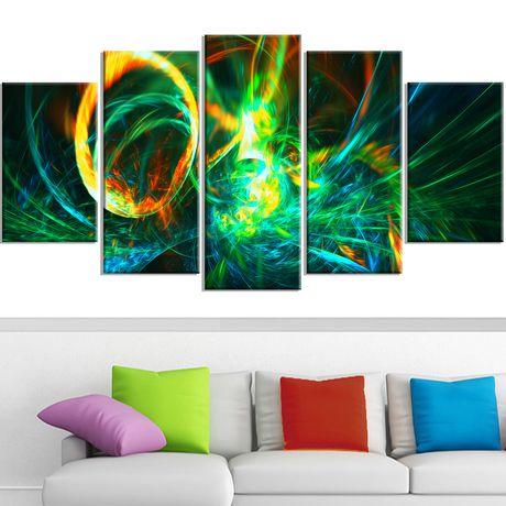 Décoration murale sur toile Design Art Feu vert - image 2 de 3