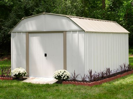 Arrow Lexington Barn Style Taupe/Eggshell Steel Storage Shed - image 2 of 3