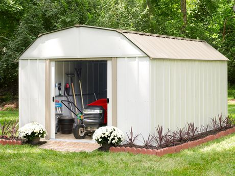 Arrow Lexington Barn Style Taupe/Eggshell Steel Storage Shed - image 3 of 3