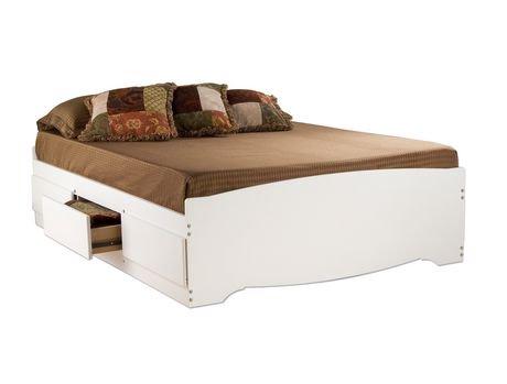 furniture the brick bed full bedroom white platform olivia beds search storage