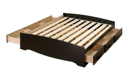 Prepac Full Double Size Platform Storage Bed With 6