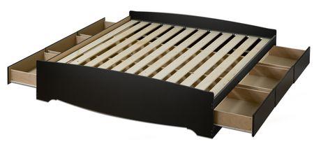 king platform storage bed. Wonderful Storage Prepac King Size Platform Storage Bed With 6 Drawers And 3