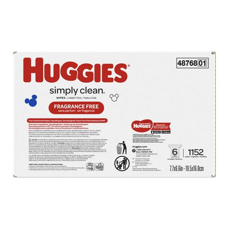 Huggies Simply Clean Fragrance-free Baby Wipes, Refill Pack - image 3 of 5
