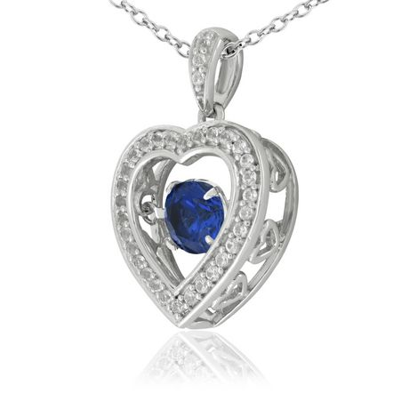Pure Dancing 1 Carat T G W Created Blue Sapphire 5 25mm