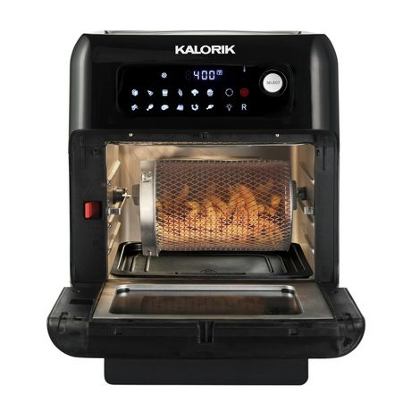 Kalorik 6 Quart Black Air Fryer Oven With 9 Accessories