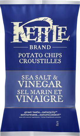Kettle Chips Sea Salt And Vinegar Gluten Free Potato Chips - image 1 of 2