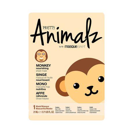 Pretty Animalz singe masque en feuille - image 1 de 2