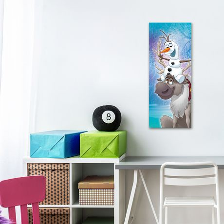 D coration murale artissimo designs sven and olaf fun for Decoration murale walmart